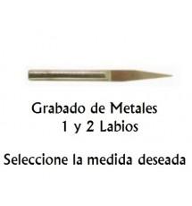Fresa Grabado Metales (1 Labio)