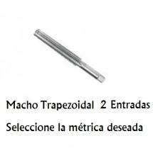 Macho Trapezoidal 2 Entradas M12x3 - Paso 6